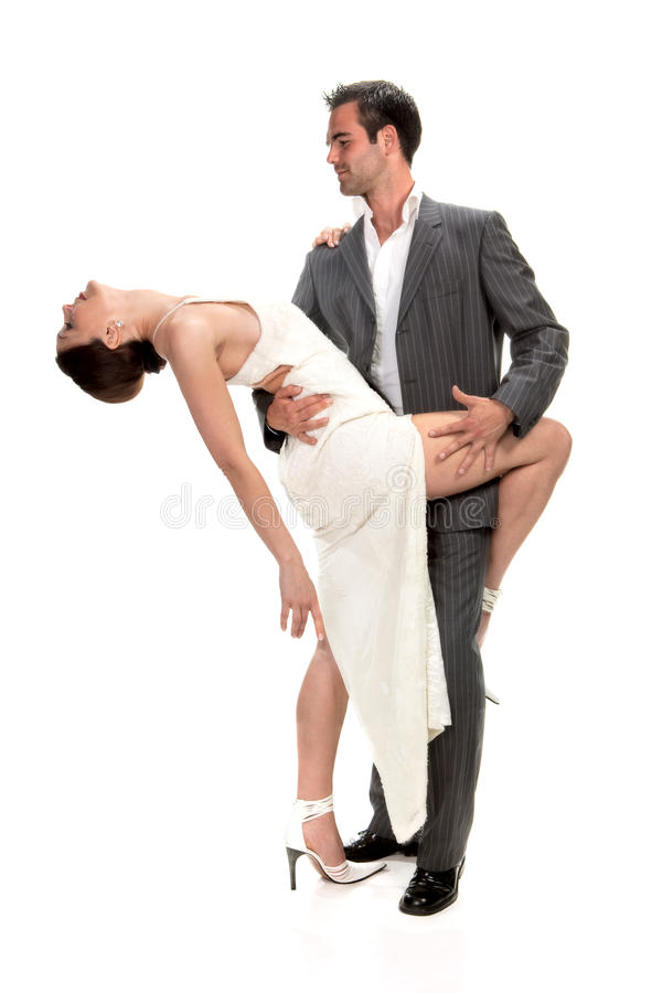 Couples affectueux de danse photographie stock