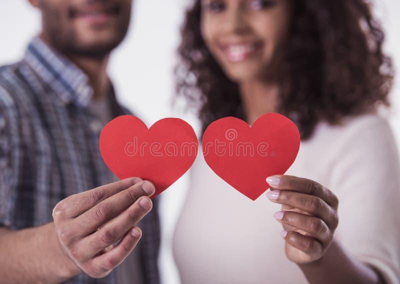 Couples afro-américains photographie stock