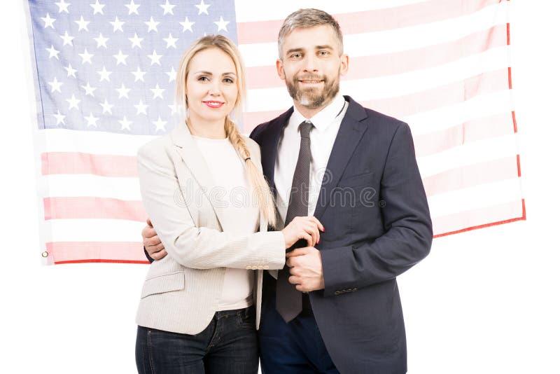 Couples américains réussis image libre de droits
