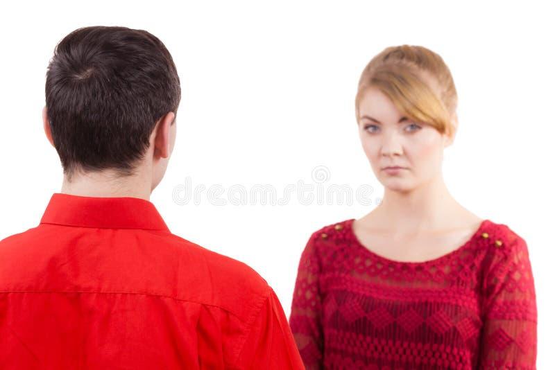 Couples après sérieux triste offensé par querelle photographie stock