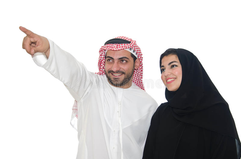 Couples arabes photos libres de droits