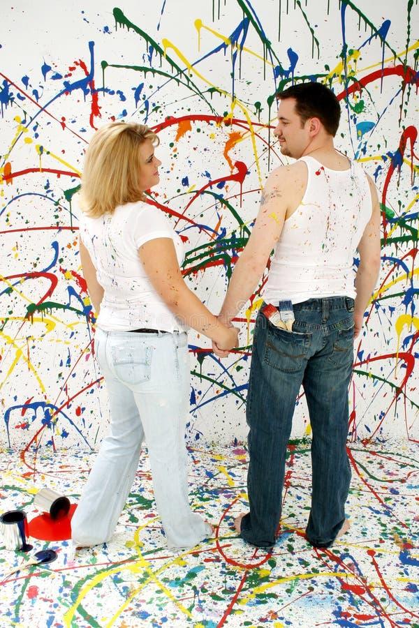 Couples artistiques photo libre de droits