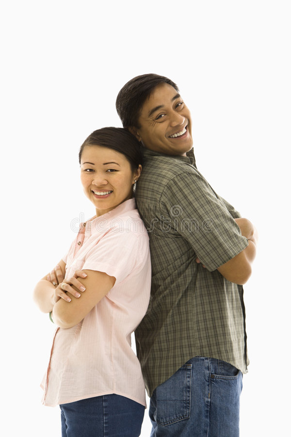 Couples asiatiques. photos stock