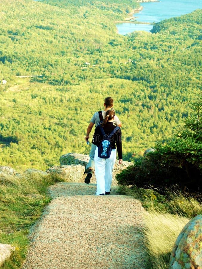 Couples augmentant à l'Acadia photo libre de droits