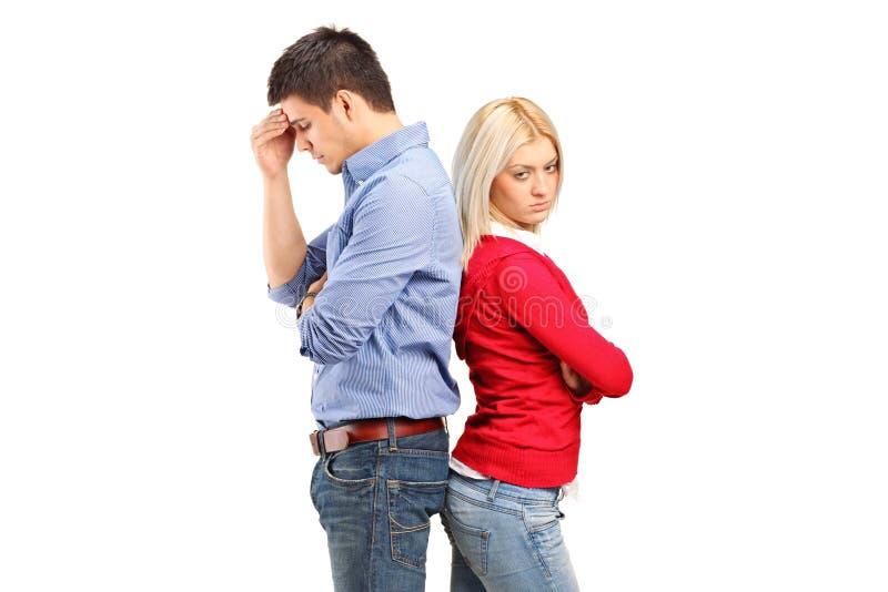 Couples ayant ensuite un argument photo libre de droits