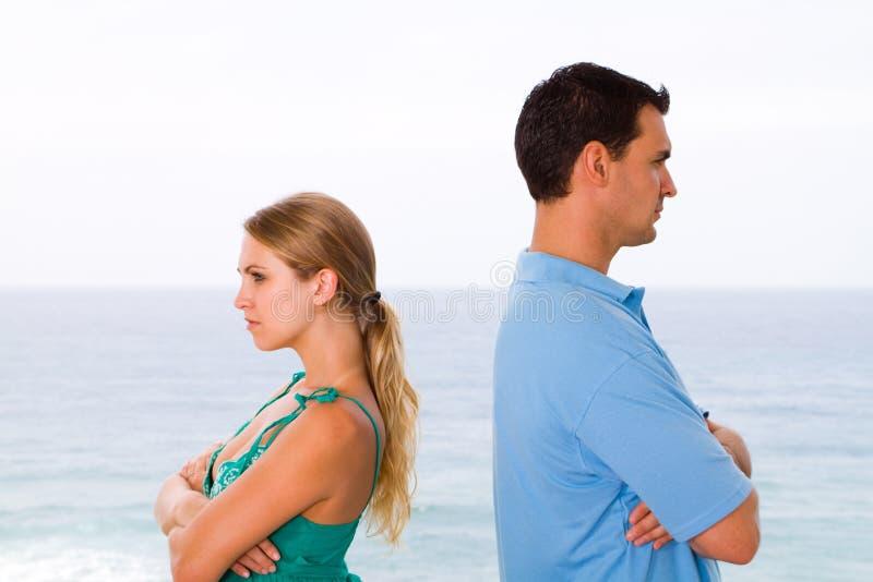 Couples ayant le combat image libre de droits