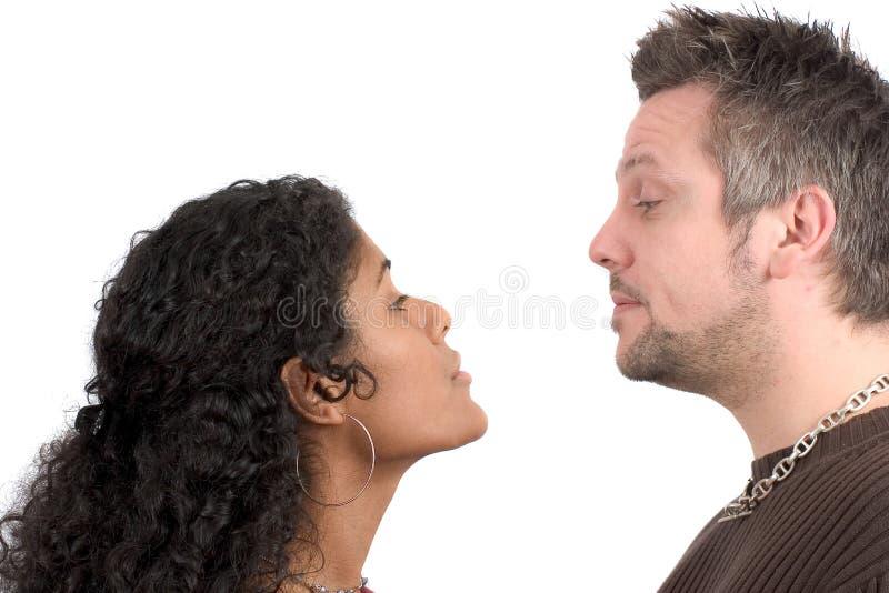 Couples ayant un argument photographie stock libre de droits