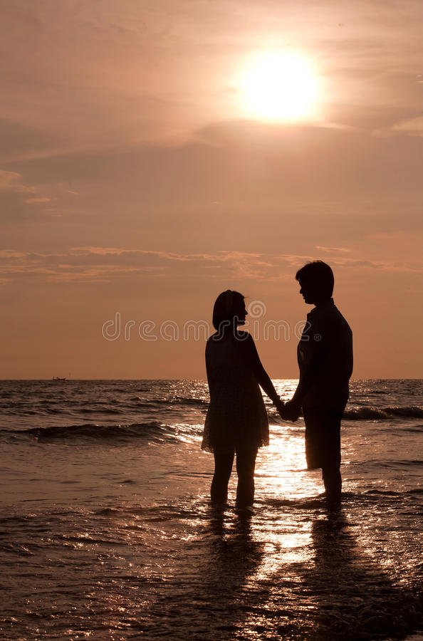 Download Couples on the Beach stock photo. Image of beach, romantic - 19937416