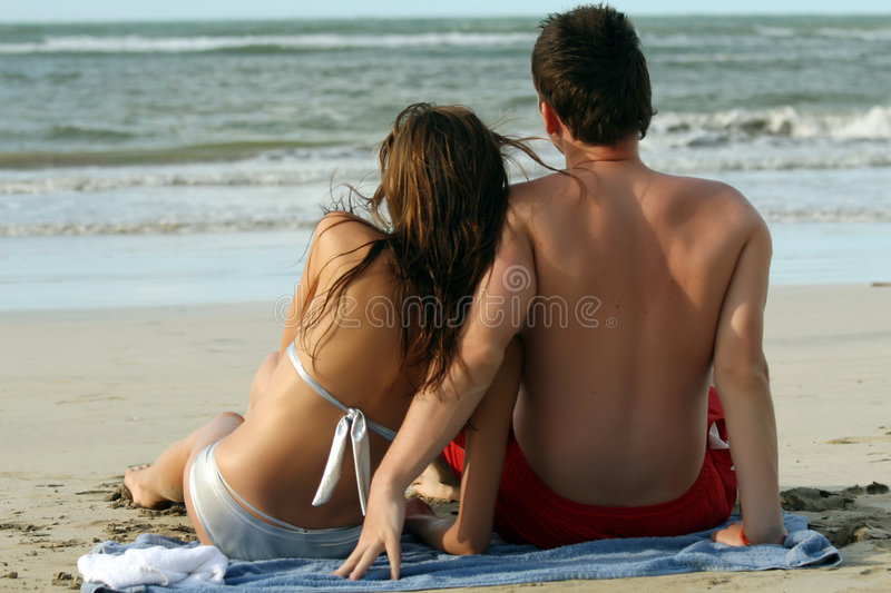 Download Couples at the beach stock image. Image of flirting, summer - 8700577