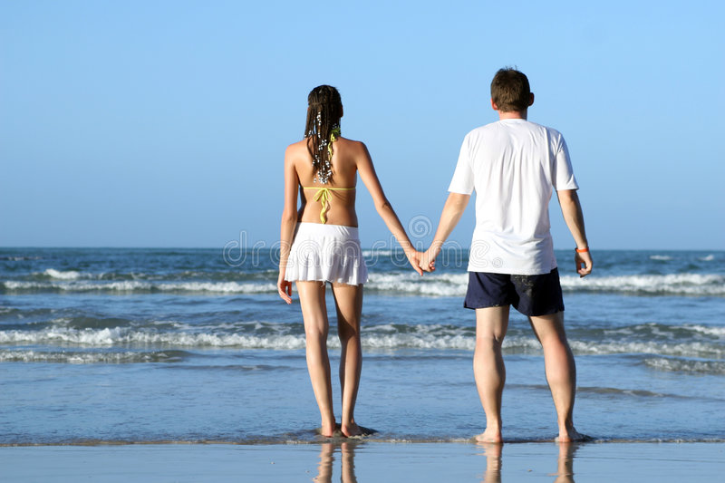 Download Couples at the beach stock image. Image of outdoor, flirting - 8700607