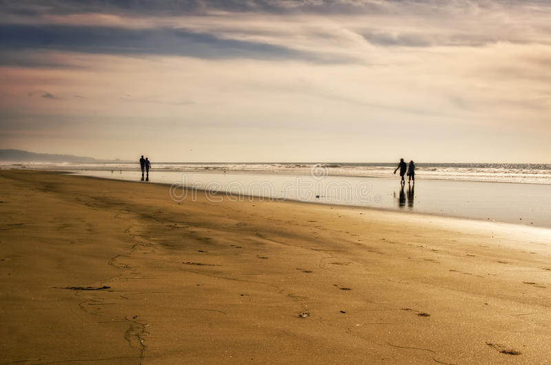 Download Couples On The Beach, California Stock Image - Image: 21817877