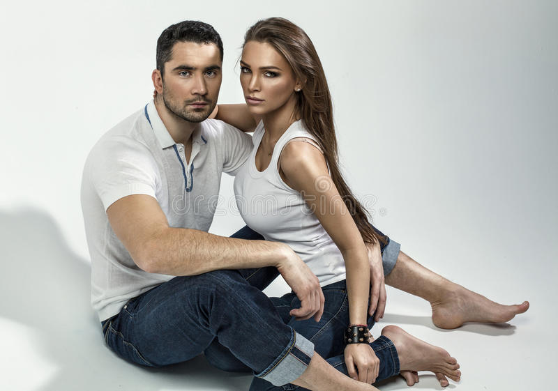 Couples beaux image stock