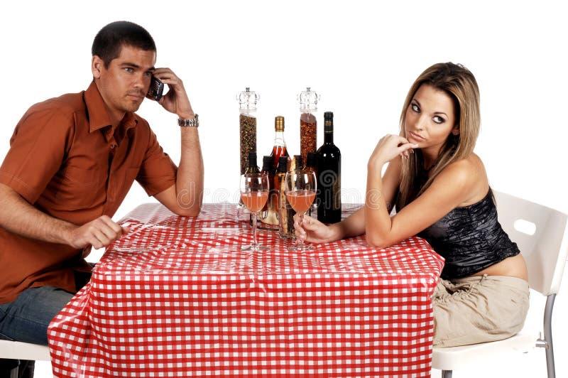 Couples bouleversés de Bistros photographie stock