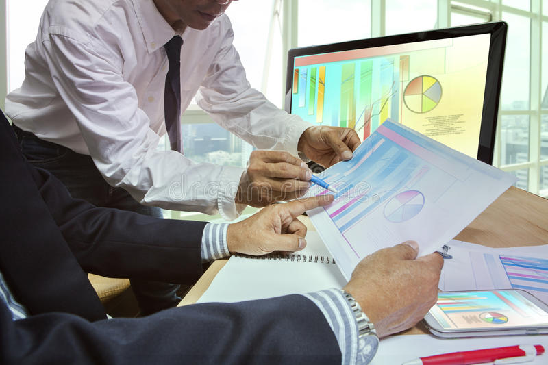 Couples of business man team meeting strategy analysis for plani royalty free stock photos