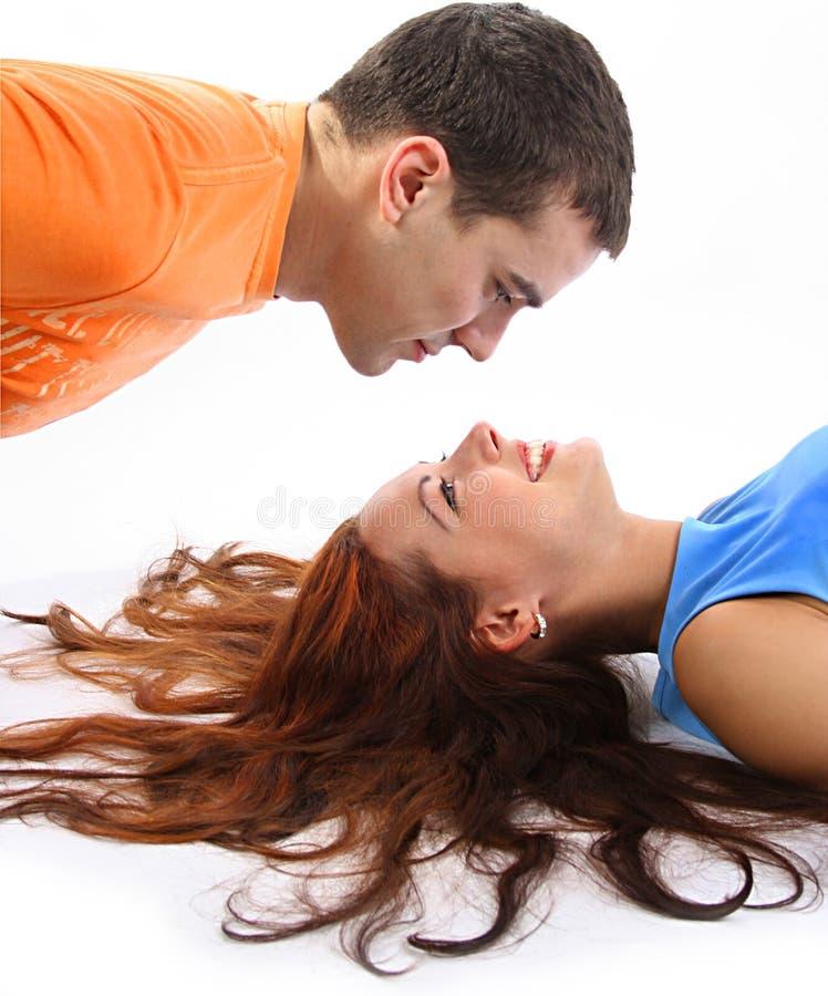 Couples colorés photo libre de droits