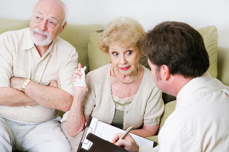 Couples Counseling - Seniors royalty free stock photo