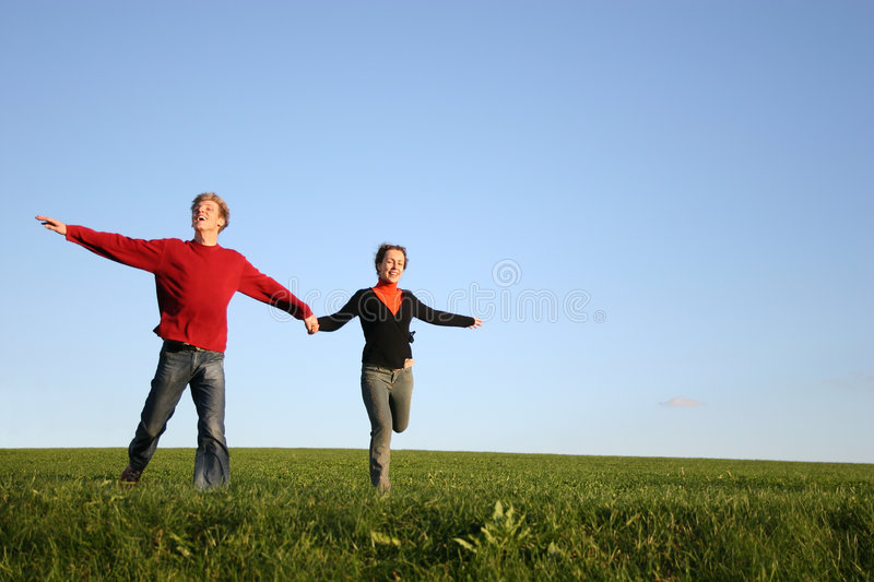 Couples courants image stock