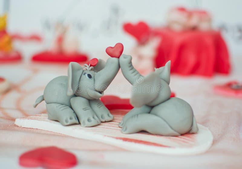 Couples d'éléphant photo libre de droits