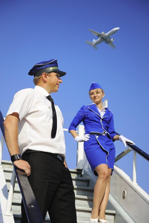 Couples d'équipage de cabine images stock
