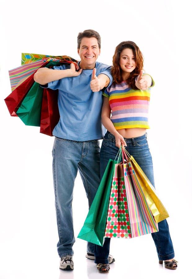 Couples d'achats photographie stock libre de droits