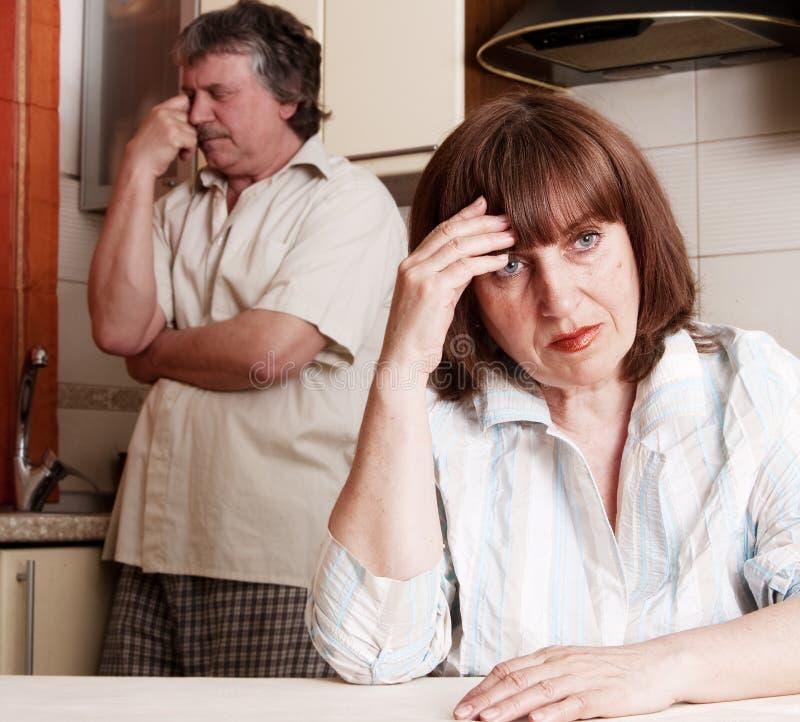 Couples d'adultes de conflit image libre de droits