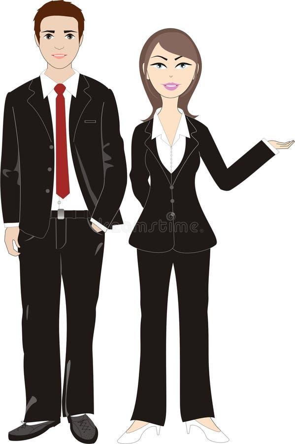 Couples d'affaires photo libre de droits