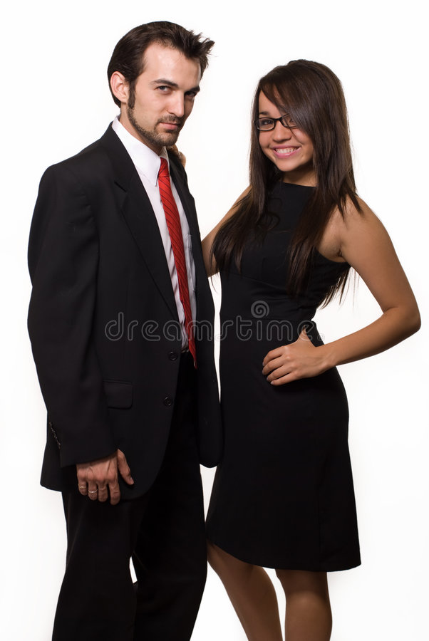Couples d'affaires image stock