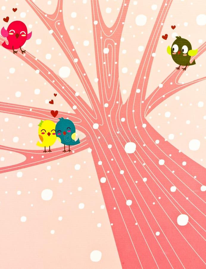 Couples d'amour d'oiseau. images libres de droits