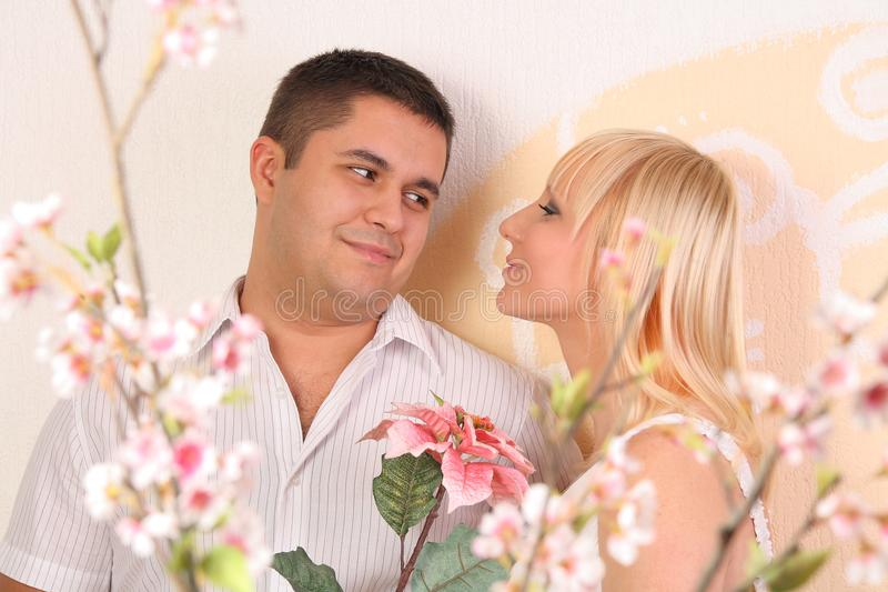 couples d'amour regardant l'un l'autre photos stock