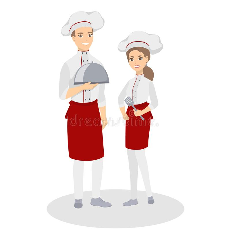 Couples d'isolement de chefs illustration libre de droits