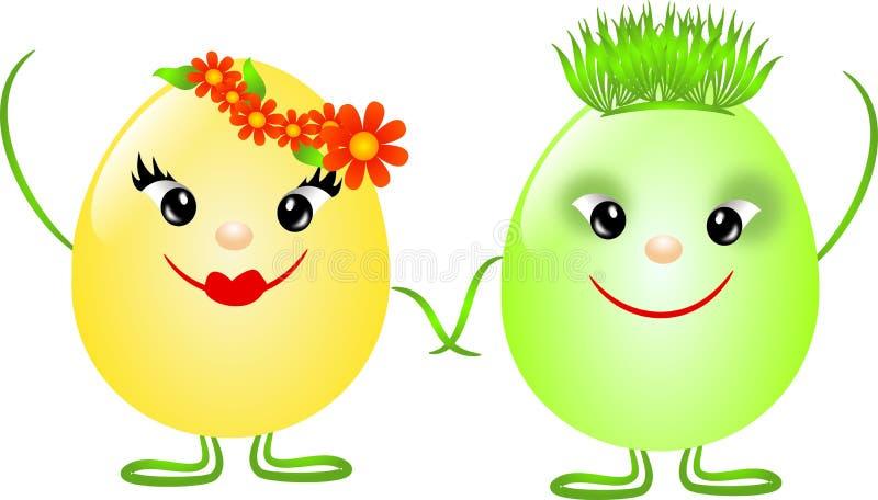 Couples d'oeufs de pâques illustration stock
