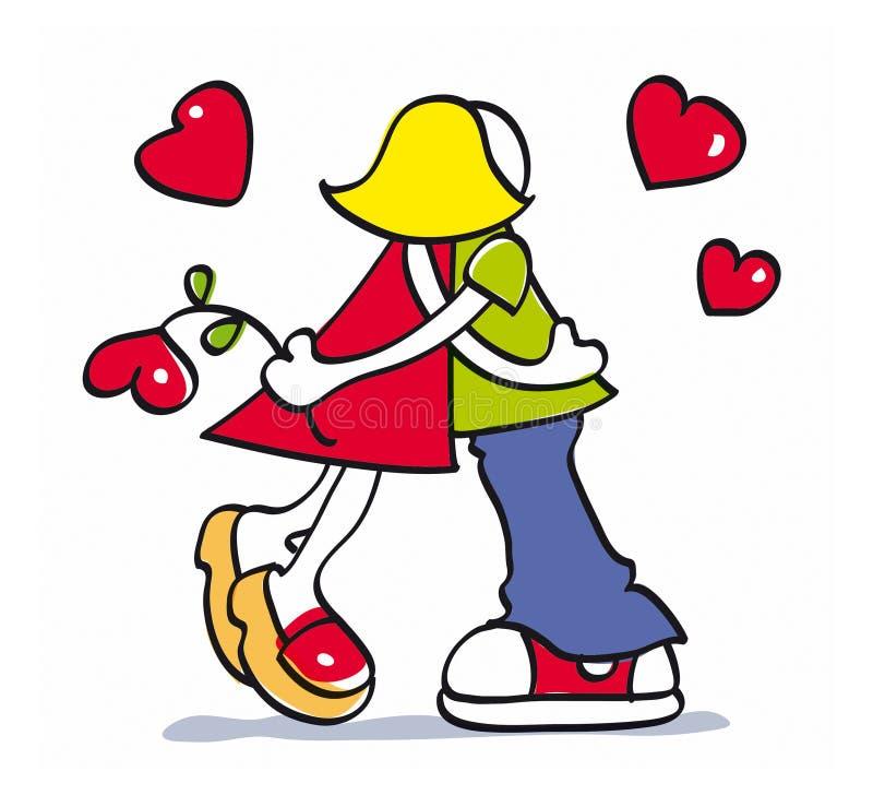 Couples dans l'amour illustration stock