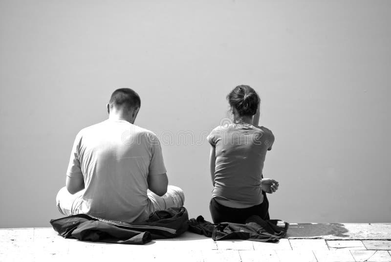 Couples dans l'ennui image libre de droits