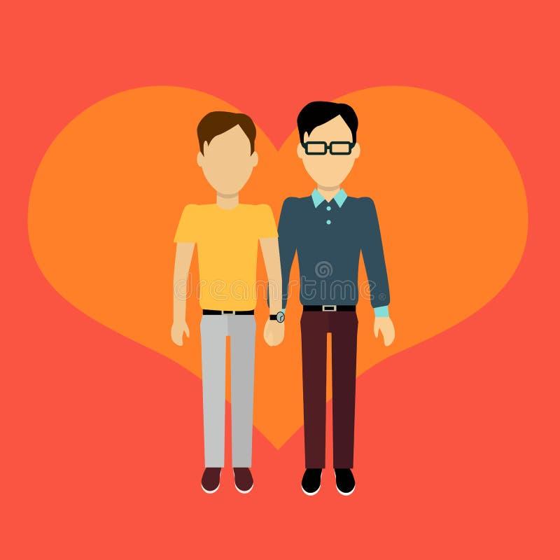 Couples dans la conception plate de bannière d'amour illustration de vecteur