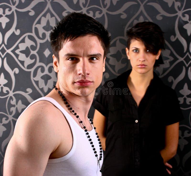 Couples dans le studio images libres de droits