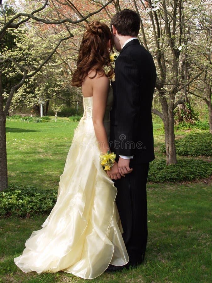 Download Couples de bal d'étudiants image stock. Image du pastel - 744389