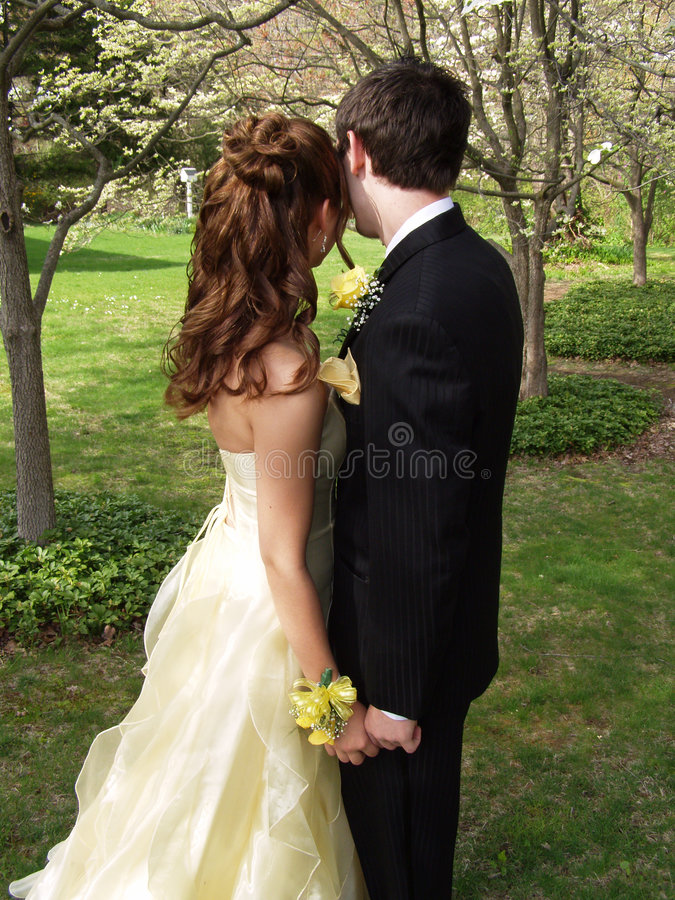 Download Couples De Bal D'étudiants Demi-longueur Photo stock - Image du aîné, robe: 744392