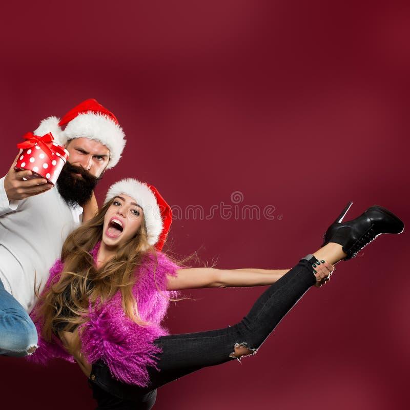 Couples de bonne année photographie stock libre de droits