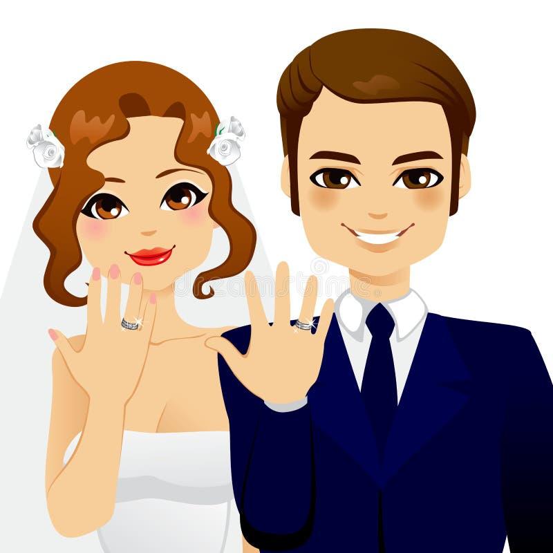 Couples de boucle de mariage illustration de vecteur