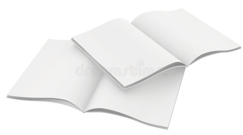 Couples de calibre vide de magazines Sur le blanc illustration de vecteur