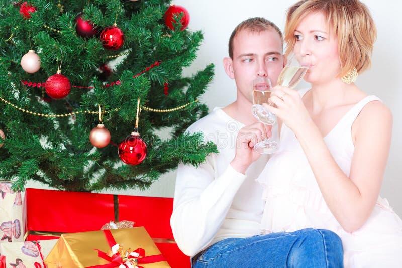 Couples de Champagne image stock