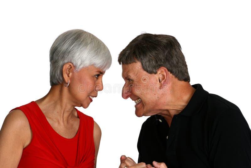 Couples de combat image libre de droits