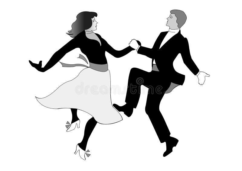 Couples de danse illustration libre de droits