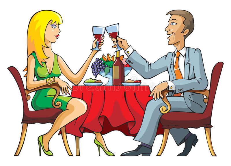 Couples de datation illustration stock
