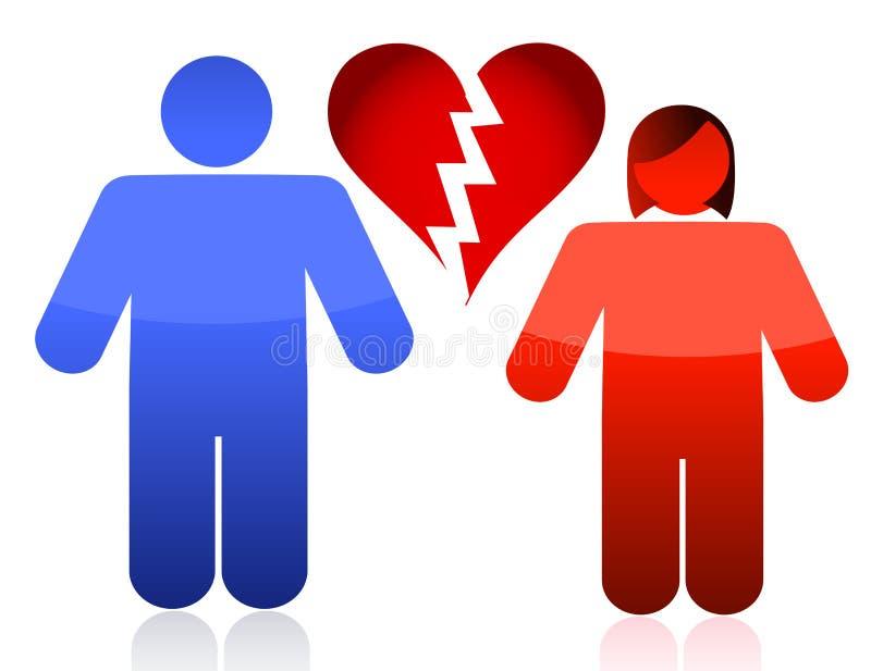 Couples de divorce illustration libre de droits