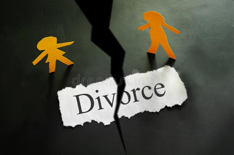 Couples de divorce photo libre de droits