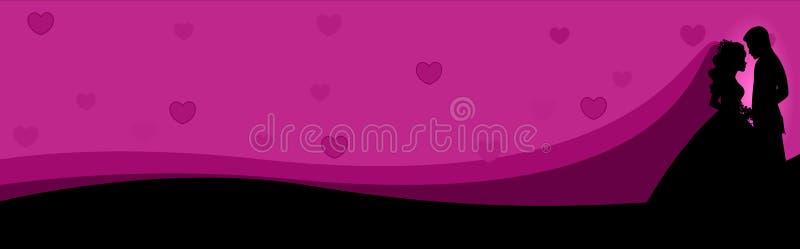 Couples de drapeau de Web dans l'amour illustration de vecteur