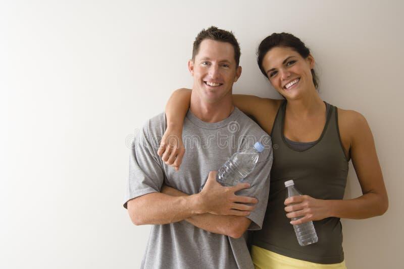 Couples de forme physique photos stock