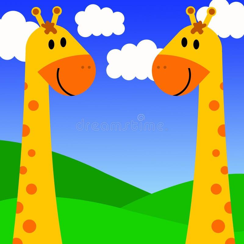 Couples de giraffe illustration stock
