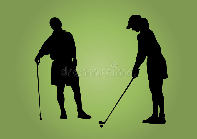 Couples de golf illustration libre de droits